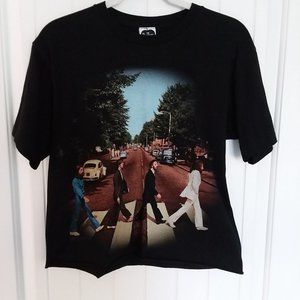The Beatles Abbey Road Cropped Short Sleeve Tee